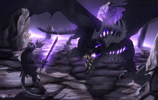Ranboo vs the Ender Dragon [+ Speedpaint!]