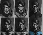 Dick Grayson Nightwing (process)
