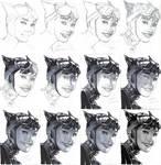 Catwoman - a study after Adam Hughes