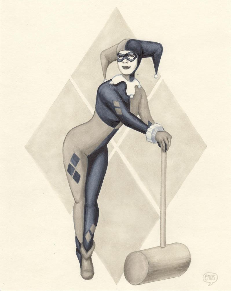 Harley Quinn - Sketch by BauerPower24777