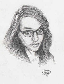 Callie Cosplay - pencil sketch
