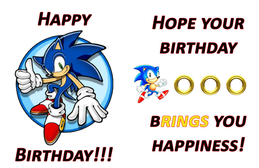 Sonic Birthday Card By Trippindippy On Deviantart