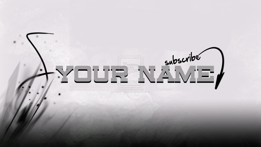 Youtube onechannel template // 2013! by DutchPhotoshop on DeviantArt