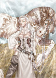 Maiden and her horse