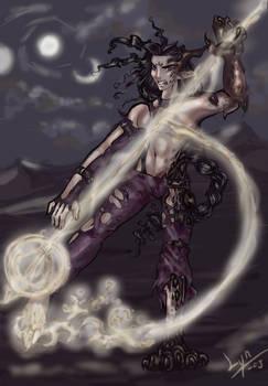 Kharagath casting a spell