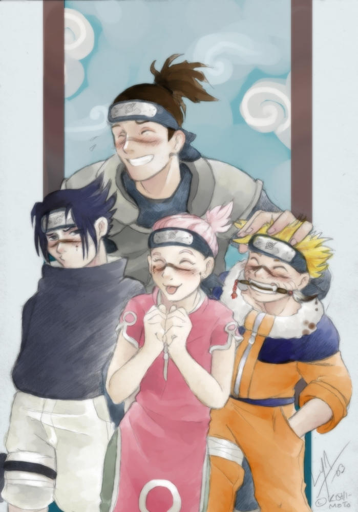 Naruto Iruka And His Clones By Bobkitty On Deviantart
