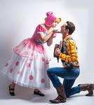 Bo Peep and Woody Toy Story Disney cosplay by julietheadventurer