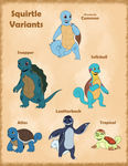 Squirtle Variants