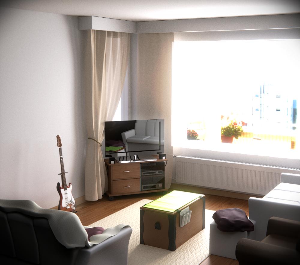 My Living Room, Blender 3d By Orientaliser On DeviantArt