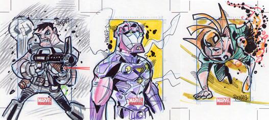 Marvel Universe Skecth Cards - 10 by Edferrara