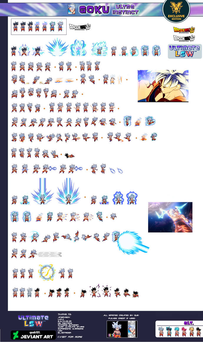 Mastered Ultra Instinct Goku - Ultimate LSW Sheet by xBae12