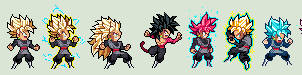ULSW Black Goku Forms - Dragon Ball Super by xBae12