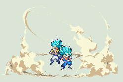 ULSW Vegetto and Gogeta Blue by xBae12
