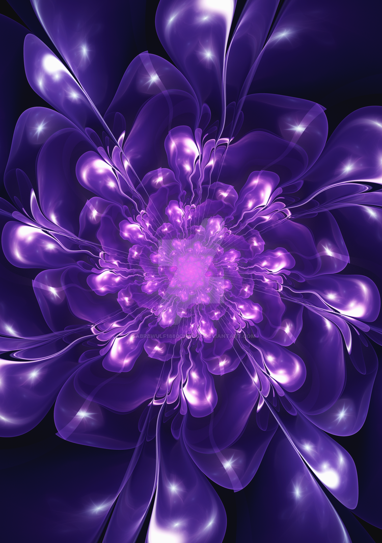 Serenity - Floral Bloom Fractal by Sabrewulf1880ChaosF