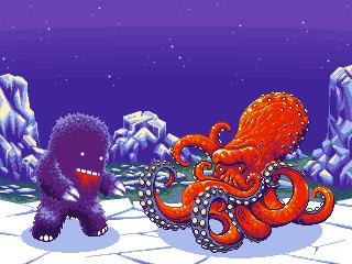 Yeti Vs. Octopus - FIGHT! by matt-walkden