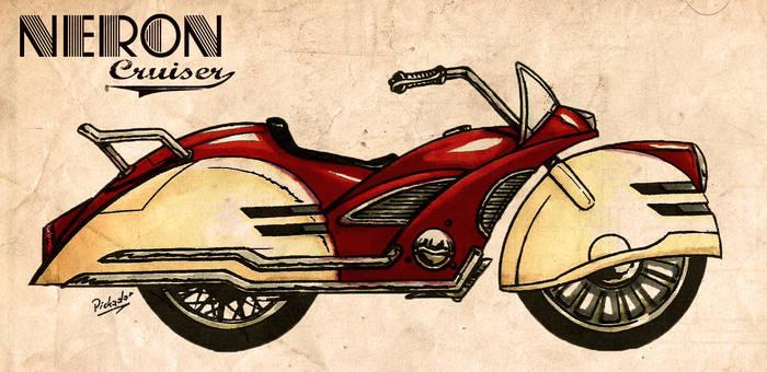 Neron Cruiser - retro motorbike