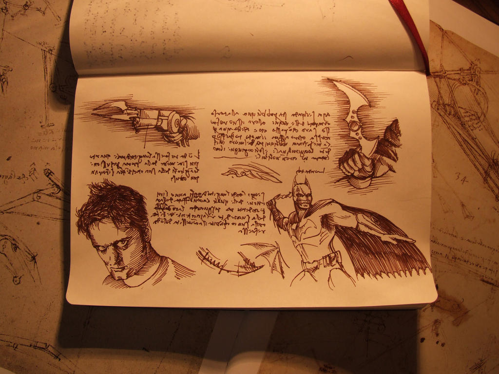 Lost pages from Da Vinci sketchbook by Pickador