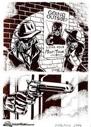 Dieselpunk Jimmy at gunpoint