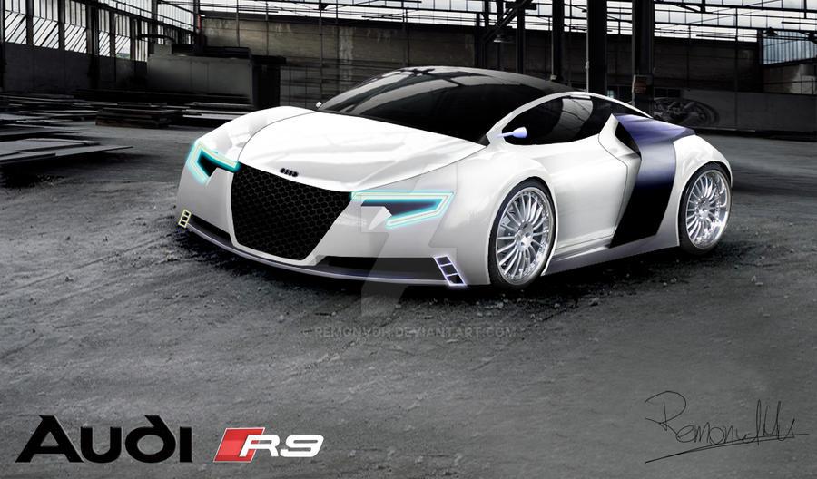 Audi R9 Rendering white by RemonvdH on DeviantArt