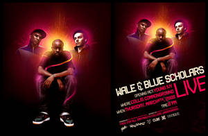 Wale and Blue Scholars Poster by 3njin