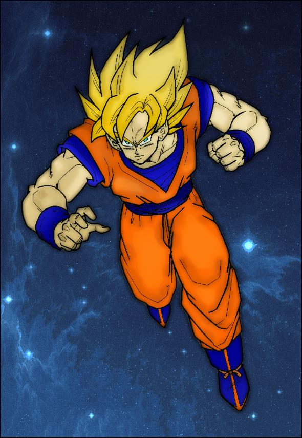 Super Saiyan Goku by Sheffwed51