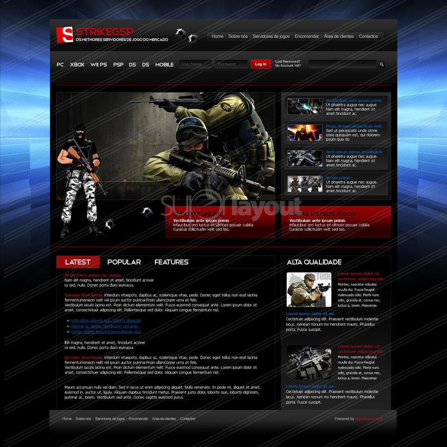 Game Website Design by superlayout on DeviantArt