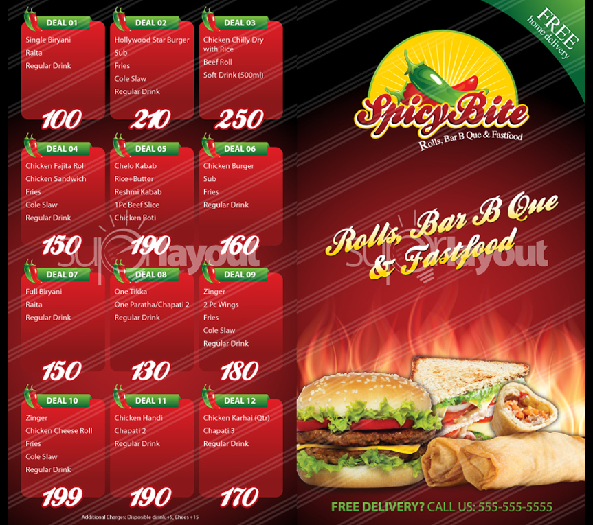 Restarunt Brochure. Asian Restaurant Tri-Fold Brochure Template