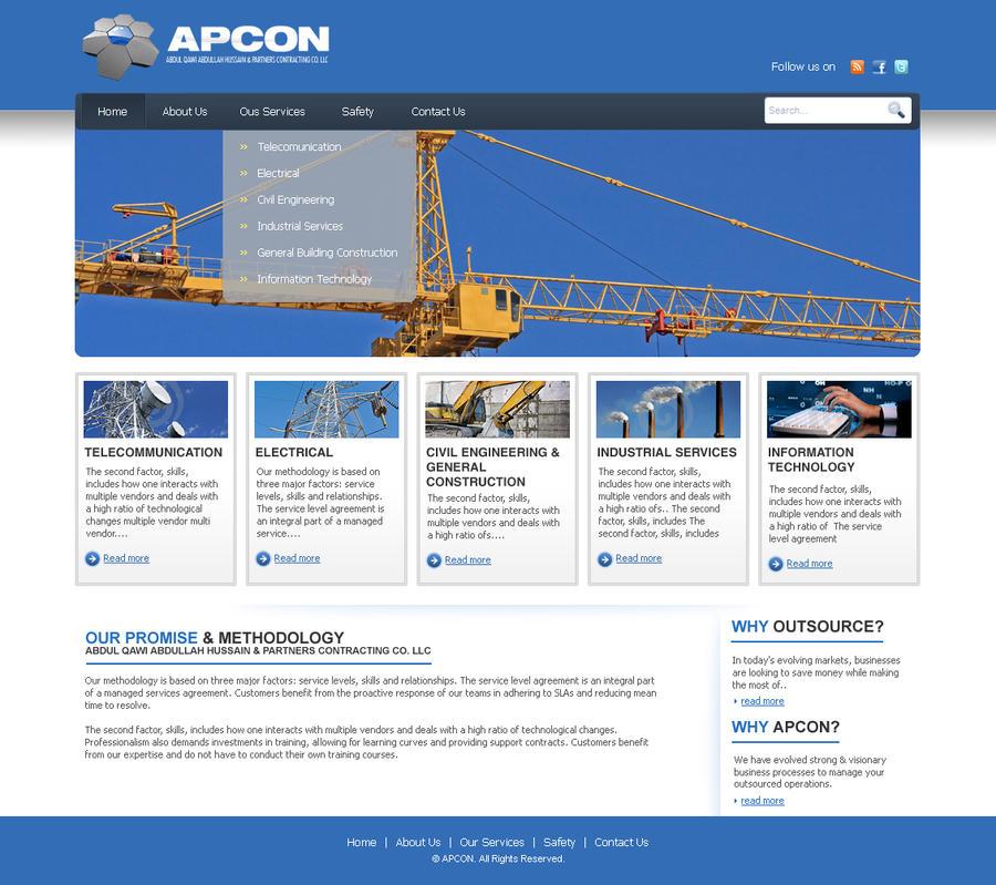 Construction website design by superlayout