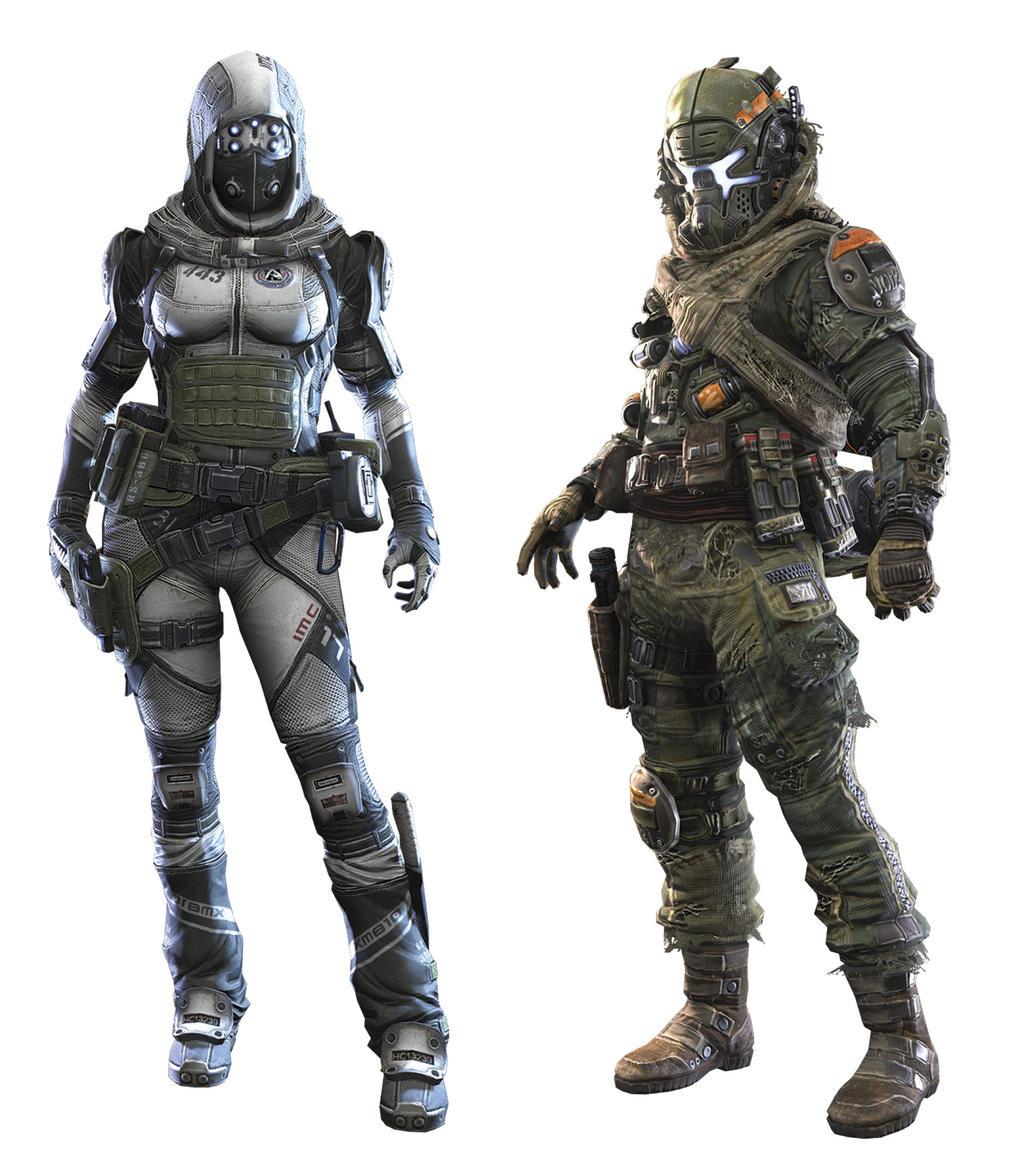 Militia Pilot (Male) + IMC Pilot (Female) by AlClemBee on ...
