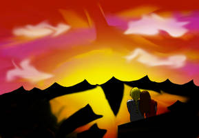 Erik and Margherita watching the sunset by Torayami