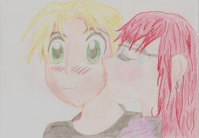 Anton and Denise first kiss by Torayami