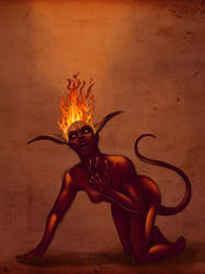 devil girl by concept-drawing-girl
