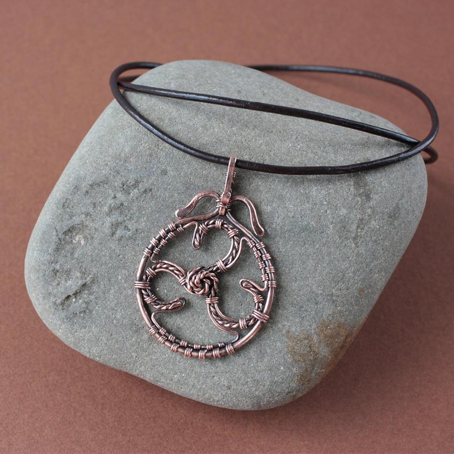 Copper pendant Triskelion by WhiteSquaw