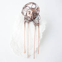 Copper Hair Comb 'Lullaby' by WhiteSquaw