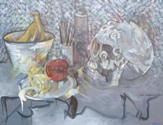 Sacred Skull-godhead still-life 2014 by pheelix-dot-com