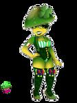 Mushroom girls collection Miss Parrot Waxcap