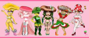 Mushroom Girls Collection Group Pic by AilwynRaydom