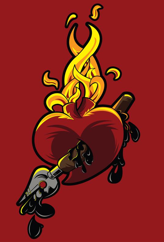 Heart Ink by Felipefr