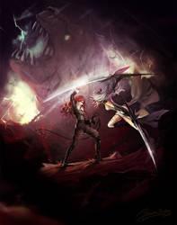 Ann vs Cornelia by HellyonWhite