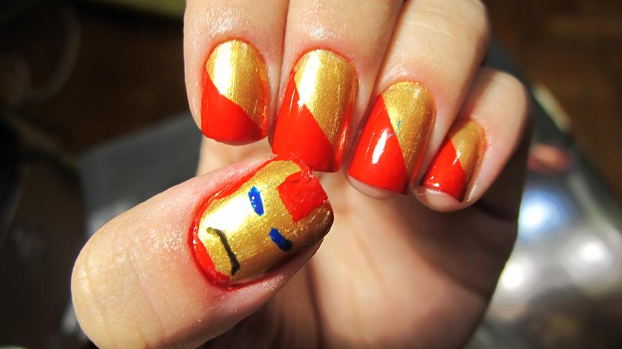 Iron Man Nails by tharesek on DeviantArt