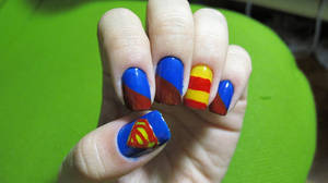 Superman Nails by tharesek