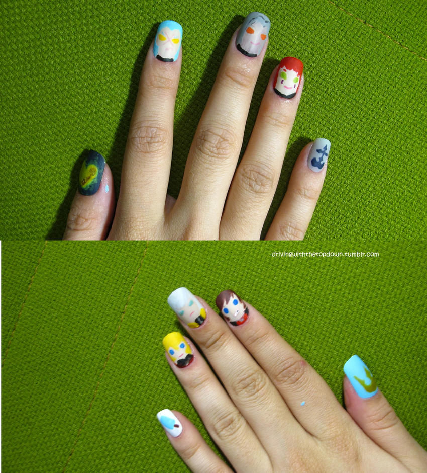 Kingdom Hearts Nails by tharesek on DeviantArt