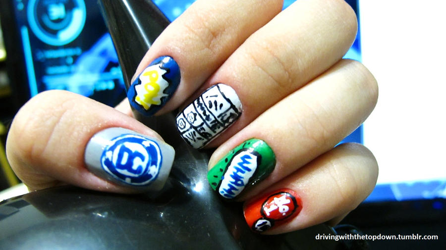 Comic Nails by tharesek
