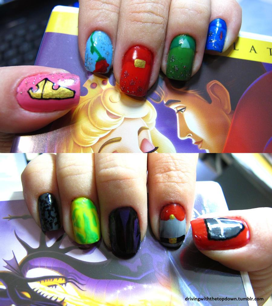 Sleeping Beauty Nails: Sleeping Beauty Nails By Tharesek On DeviantArt