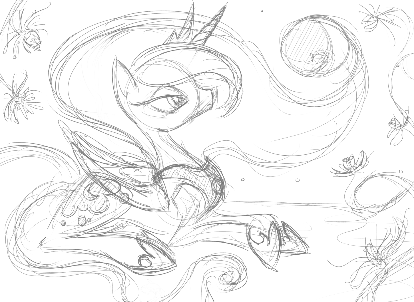 Printable My Little Pony Friendship Is Magic Princess Celestia Coloring Pages additionally How To Paint A Tree Mural together with Love Always further Fluttershy S Funeral 467919393 furthermore My Cutie Mark By Crescentmoon1996 D5f71op 382685953. on nightmare moon wallpaper