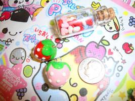 cute strawberry phone charm by cutieexplosion