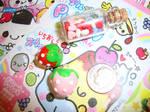cute strawberry phone charm