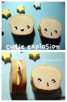 ham and cheese sandwich charm by cutieexplosion