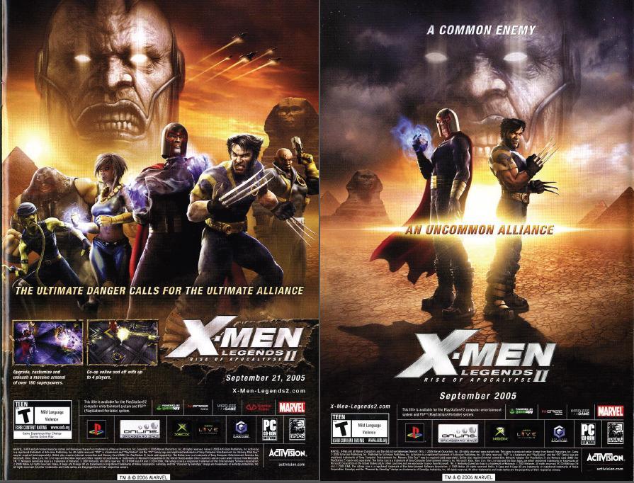 X Men Legends II Rise Of Apocalypse 2005 By Trivto On DeviantArt