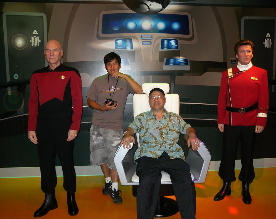 With the Captains of USS Enterprise Starship